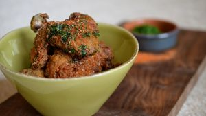 Fairmont Olympic fried chicken