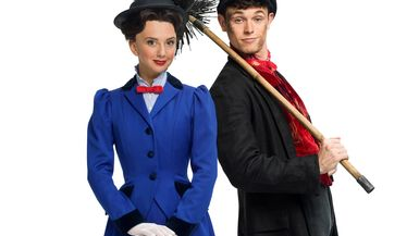 Zizi Strallen as Mary Poppins and Charlie Stemp as Bert, Mary Poppins, London, UK