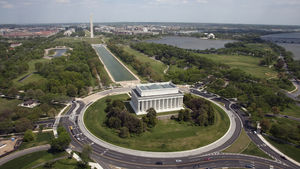 Aerial of the National Mall
