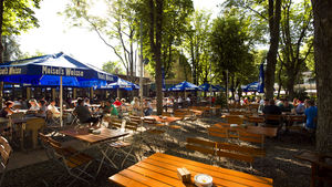 Outdoors at the Luise Biergarten in Dahlem