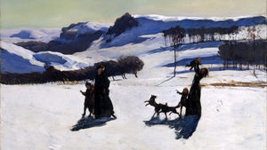 """""""Snow Fields (Winter in the Berkshires)"""" by Rockwell Kent"""