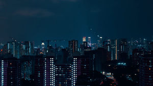 Singapore video of skyline at night