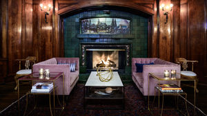 The Fireside Room at the Sorrento Hotel