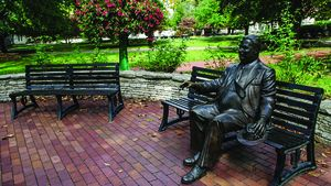 Herman B. Wells statue at Indiana University in Bloomington