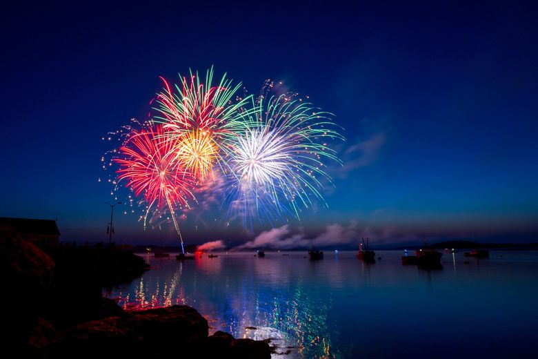 fireworks from boats