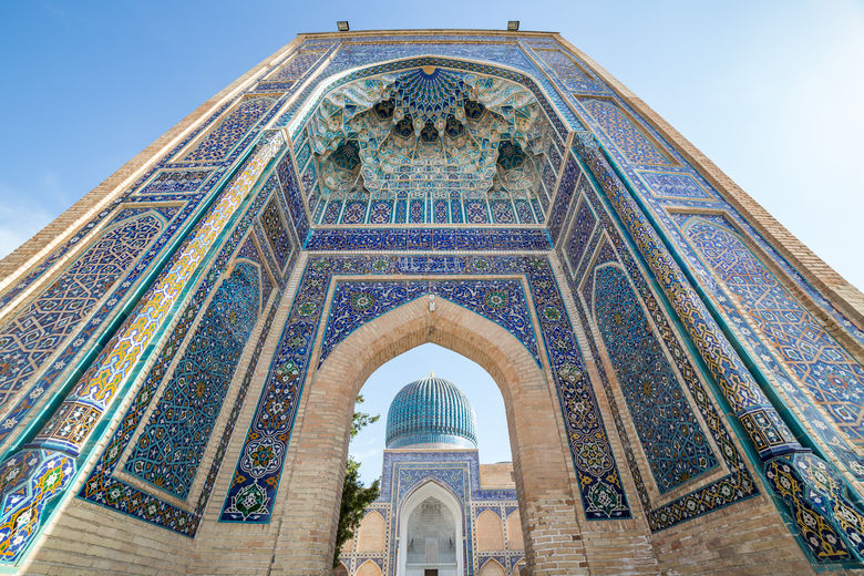 The colorful tomb of Tamerlane or Timur