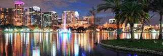 Things to do in Orlando - Downtown at night
